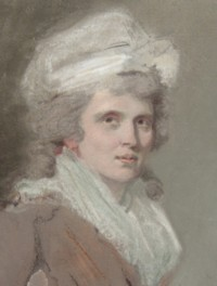 Portrait drawing of Elizabeth Caldwell nee Stamford of Linley Wood, Talke, Staffordshire, England 1755-1831