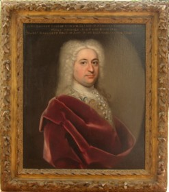 Portrait of John Harvey 1699-1750 of Ipswich painted by the artist John Theodore Heins 1697-1756 painter of Norwich Norfolk.
