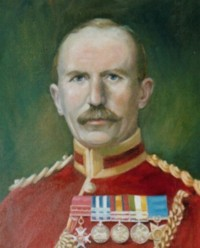 Portrait of Maj Gen Frederick Crofton Heath-Caldwell CB RE 1858-1945 Of Linley Wood Talke Staffordshire