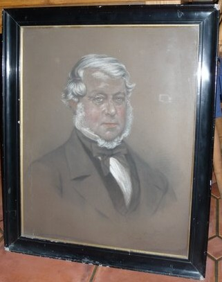 Portrait of Henry Lee 1808-1874 drawn by the painter Henry Charles Heath artist. Click   for more information.