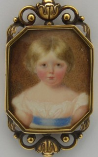 Miniature portrait of Mary Emma Lady Heath nee Marsh