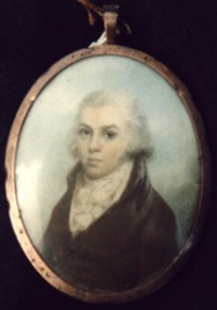 Miniature portrait of Henry Helsham Surgeon and Apothecary Doctor of Stoke Ferry Norfolk 1767-1806