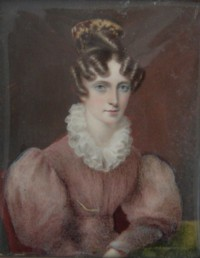 Miniature portrait of Georgiana Hesketh (nee Raynsford)