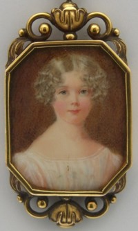Miniature portrait of Eliza Lousia Marsh-Caldwell (known as ELouisa and later as Aunt Missings); 8 July,1818 - 29 March, 1913.