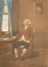 Portrait of George Marsh 1722-1800 Commissioner of the Navy. By Johann Gerhard Huck 1790.