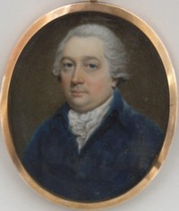 Miniature portrait of William Marsh 1755-1846 Banker of Knightsbridge in the County of Middlesex  then of York Gate Regents Park England
