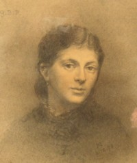 Portrait drawing of Georgina Berlinda Palmer nee Hartford 1846-1940 of Armagh Ireland