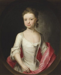 Portrait of Miss Isabella Astley by the artist John Theodore Heins 1697-1756 painter of Norwich Norfolk. Click for larger image.