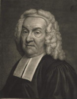 Portrait of Rev Peter Finch AM (died 1753) minister of Norwich painted by John Theodore Heins. Click for larger image.