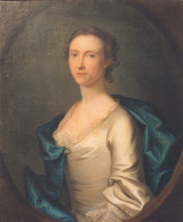 Portrait of Susannah Walter nee Beaumont 1727-1804 painted by the artist John Theordore Heins 1697-1756 painter Norwich Norfolk