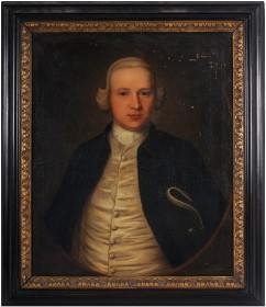 Portrait of Radcliffe Pearl Todd painted in 1755 by John Theodore Heins of Norwich.  Click for larger image.