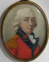 Portrait miniature of Col Charles Hopkins of the East India Company 1740-1809. Click for more information.