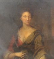 Portrait of Mrs Hopkins who was related to John Cuthbert. Painted around 1700.