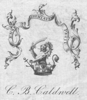 Bookplate of C B Caldwell Click for larger image