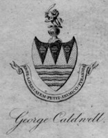 Bookplate of George Caldwell Click for larger image