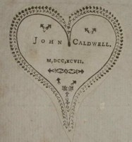 Bookplate of John Caldwell Click for larger image