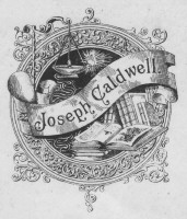 Bookplate of Joseph Caldwell Click for larger image