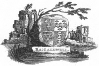 Bookplate of R A Caldwell Click for larger image