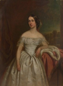 Portrait of Francis Mary Crofton nee Marsh 1819-1906 Painted by the artist J Wilson in 1855 painter