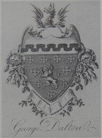 Bookplate of George Dalton. Click for larger image.