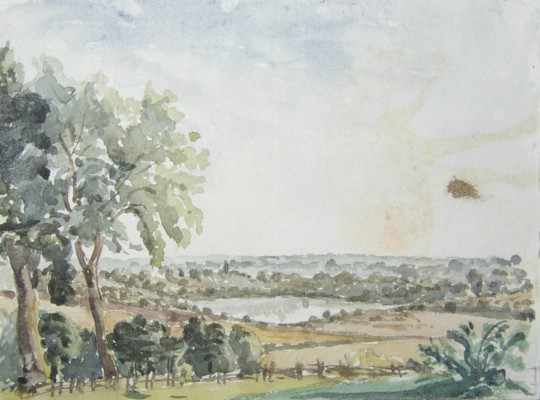 Drawings from the Eastbury Estate near Watford showing the lake in 1852. Click for large images.