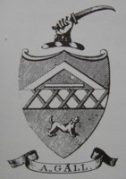Bookplate of Abraham Gall. Possibly a Drugist of Woodbridge in Suffolk? Died 1831?