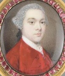 Miniature Portrait of an unknown Gentleman painted by the artist Gervase Spencer 1715-1763 artist based in London
