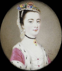 Miniature Portrait of an Unknown Lady Painted in 1760 by Gervase Spencer 1715-1763
