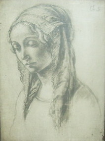 Drawing of a lady by Gervase Spencer 1715-1763