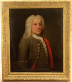 Portrait of Peter Harvey 1709-1751 painted by the artist John Theodore Heins Heine 1697-1756 painter of Norwich Norfolk