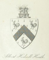 Bookplate of Albert Hodsoll Heath 1827-1863