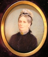 Miniature portrait of Mrs King by the artist Henry Charles Heath