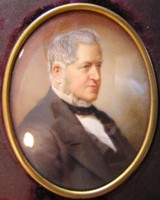 Miniature portrait of Mr King by the artist Henry Charles Heath