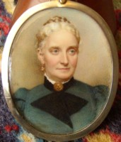 Miniature portrait of Mary Drabble nee Hayward by the artist Henry Charles Heath
