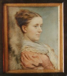 Miniature portrait of a lady by the artist Henry Charles Heath