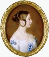 Miniature portrait of Queen Victoria by the artist Henry Charles Heath