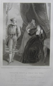 Twelth Night or What You Will Painted by Thomas Stothard RA, Engraved by James Heath Engraver to his Majesty and his RH the Prince of Wales. Click for larger image