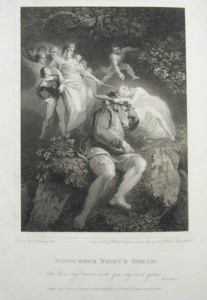 Engraving of Midsummer Night's Dream Painted by Thomas Stothard RA, Engraved by James Heath. Click for larger image.