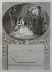 King John Painted by Thomas Stothard RA, Engraved by James Heath Engraver to his Majesty and his RH the Prince of Wales. Click for larger image