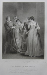 Engraving of The Taming of the Shrew Painted by Thomas Stothard RA, Engraved by James Heath ARA Engraver Click for larger image