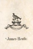 Bookplate of James Heath book plate