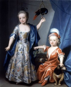 Portrait of Edward and Blanche Astley by the artist John Theodore Heins 1697-1756 painter of Norwich Norfolk.