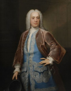 Portrait of Thomas Wright of Wighton painted by John Theodore Heins (Heine) 1697-1756 artist painter Norwich Norfolk Click for larger image