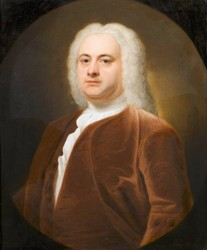 Portrait of Simon Kerrich painted in 1740 by the artist John Theodore Heins Heine 1697-1756 painter of Norwich Norfolk painting