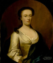 Portrait of Catherine Nelson nee Suckling painted by the artist John Theodore Heins Heine 1697-1756 painter of Norwich Norfolk painting