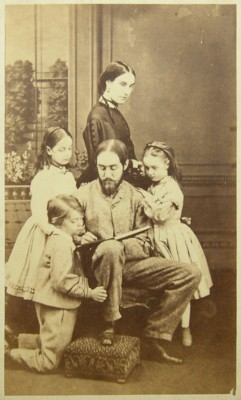 Family portrait photo of Mary Sibylla Holland (nee Lyall) 1836-1891 and two of her children