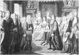 Articles of the Union Presented by the Commissioners to Queen Anne engraved by Johann Gerhard Huck 1759-1811 artist and engraver