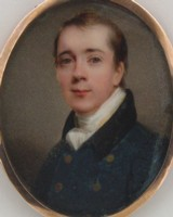 Miniature portrait of Arthur Cuthbert Marsh 1786-1849 of Eastbury