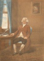 Portrait drawing of George Marsh Commissioner of the Navy by Johann Gerhard Huck 1759-1811 artist and engraver Click for larger image