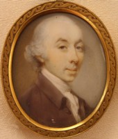 Miniature portrait of James Simson 1729-1777